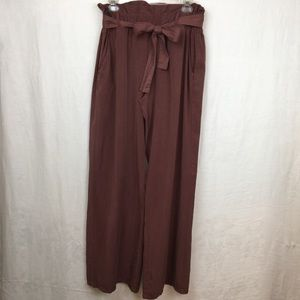 Thread & supply brick red paper bag waist pants  L